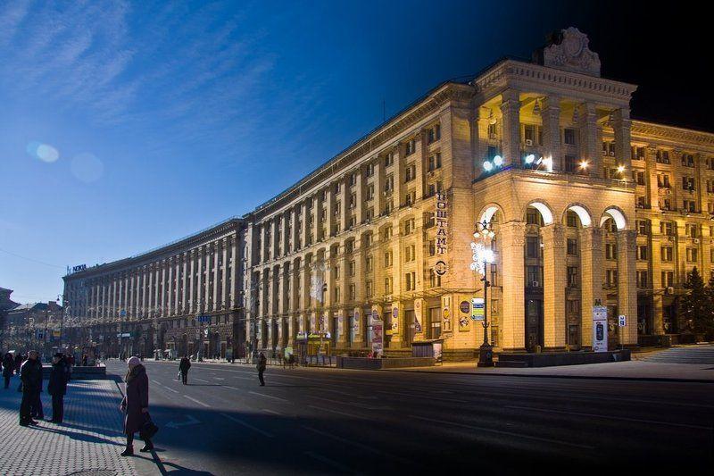 киев, коллаж День и Ночь Хрещатикphoto preview