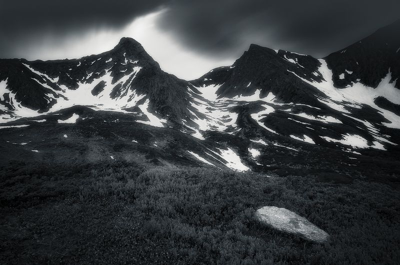 fagaras, romania, mountain, landscape, peaks, twins Fell on black daysphoto preview