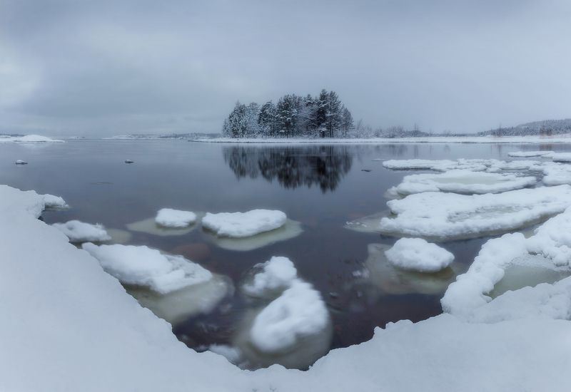 ладога, зима, шхеры, рассвет ,карелия Блины подоспелиphoto preview