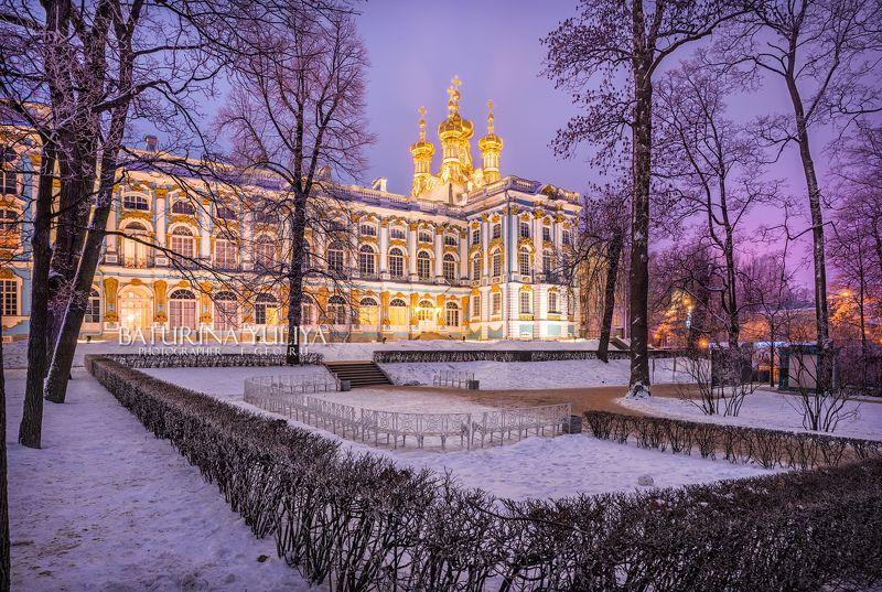 царское село, храм, дворец, санкт-петербург Лиловый вечерphoto preview