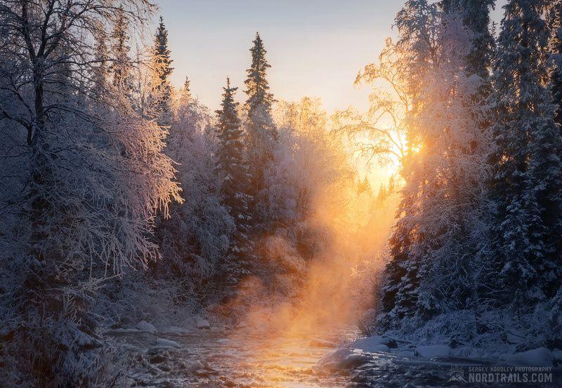 кольский, кольский полуостров, кандалакша, зима, winter, snow, north Согревающий момент из холодной жизни северной речкиphoto preview