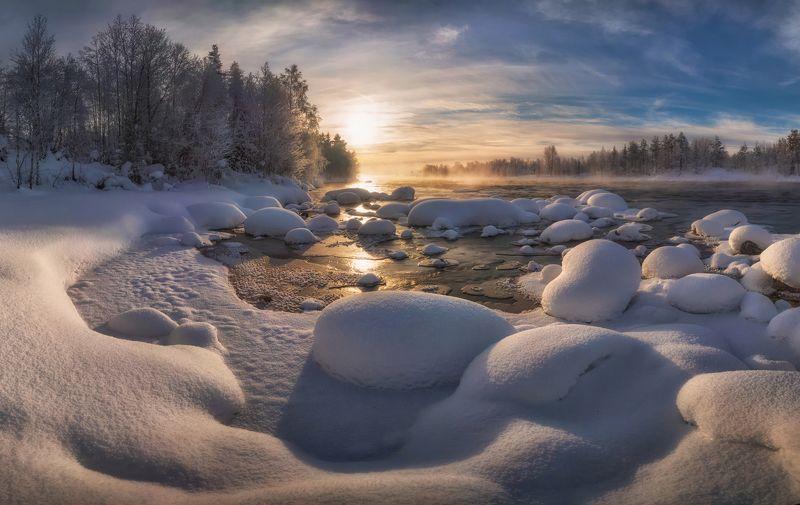 кольский Кольский. Морозное утро.photo preview
