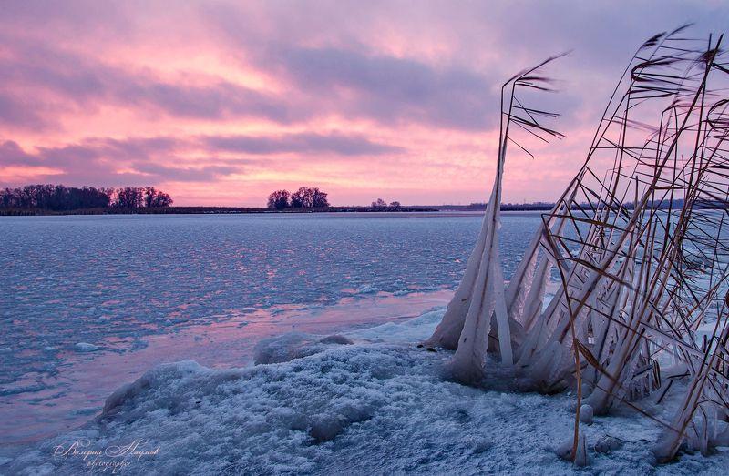 утро, рассвет, зима, снег, лёд Ледяной рассветphoto preview