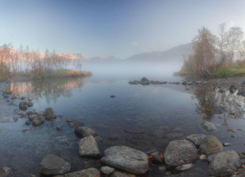 хибины, кольский, вудъявр утро на Малом Вудъявреphoto preview
