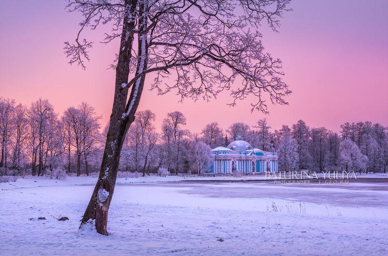 царское село, грот, санкт-петербург Розовый вечер у Гротаphoto preview