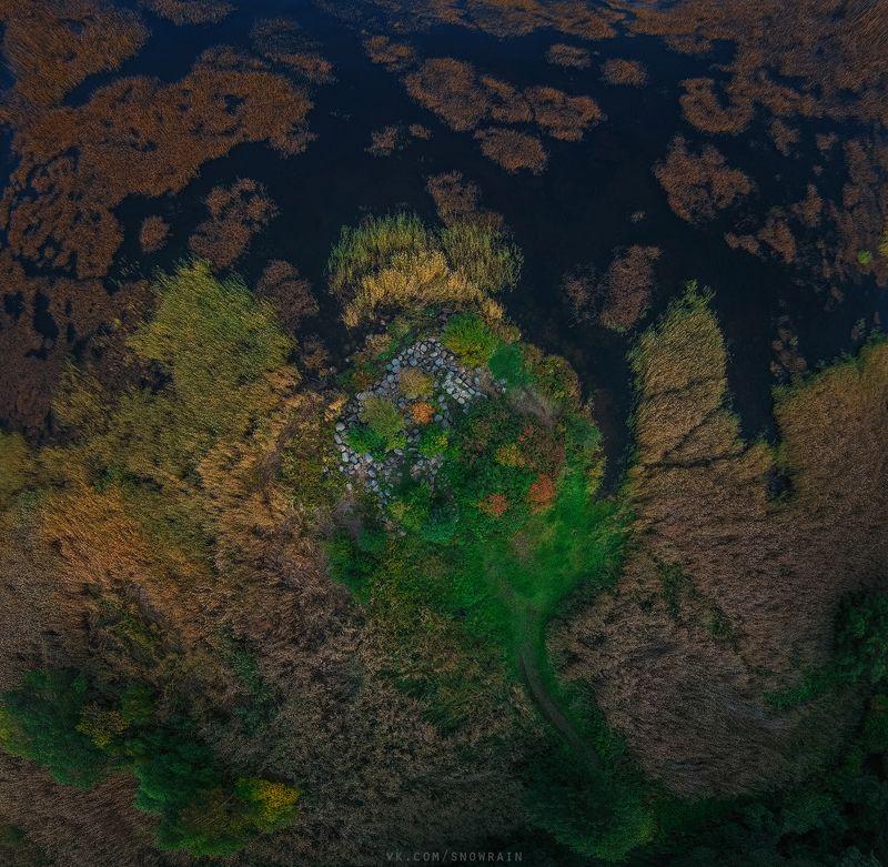 autumn, nature, aerial, drone, аэрофотосъемка, коптер, природа, пейзаж, landscape, осень Осенний мысphoto preview