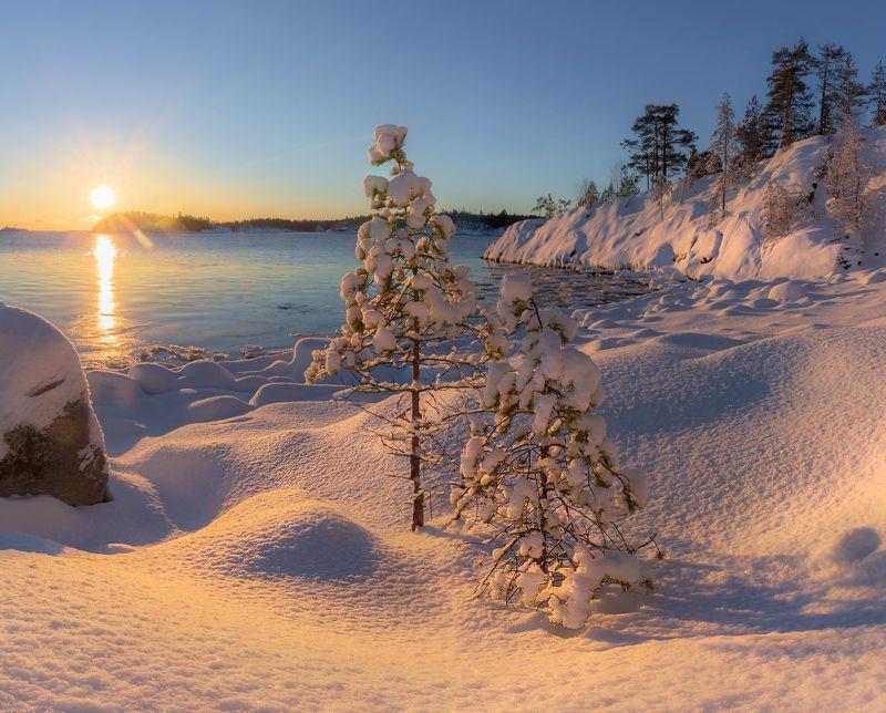 ладога, зима, шхеры, рассвет ,карелия Белый плен на Ладогеphoto preview