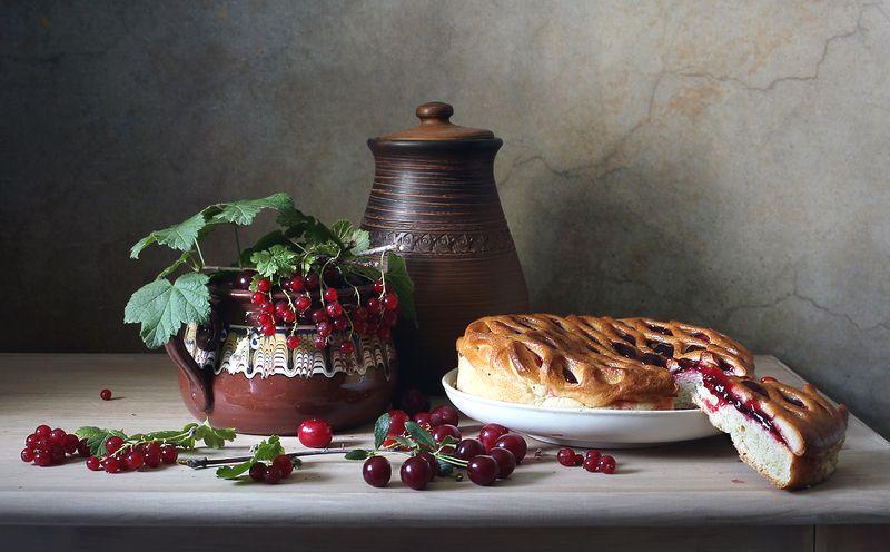 фрукты, вино, виноград, смородина, пирог, вишня С фруктами и ягодамиphoto preview