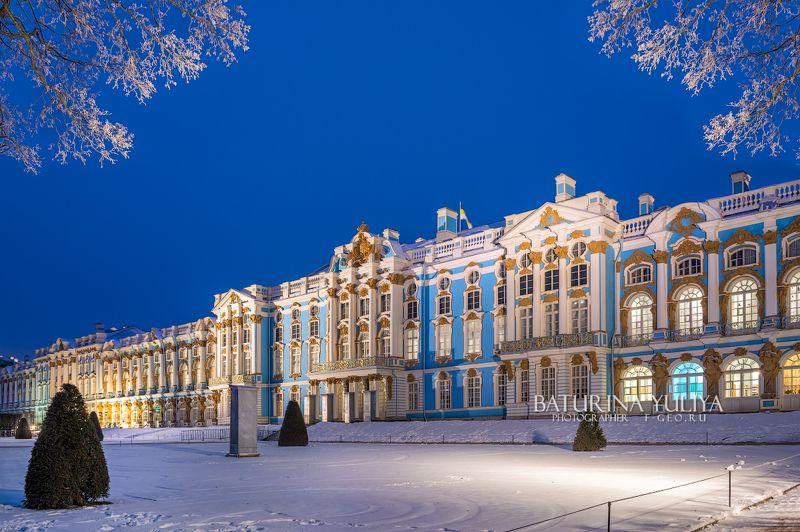 царское село, дворец, санкт-петербург Синяя ночь у Дворцаphoto preview