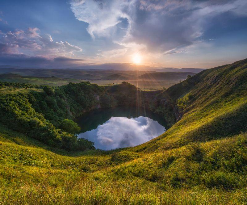 кавказ, шадхурей Вечер на озере Шадхурей.photo preview