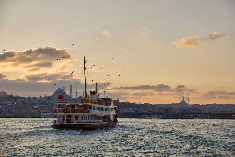Стамбул, город, закат Роматика путешествийphoto preview