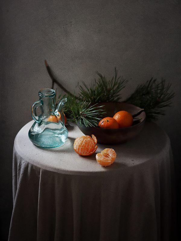 Новогодние мандариныphoto preview
