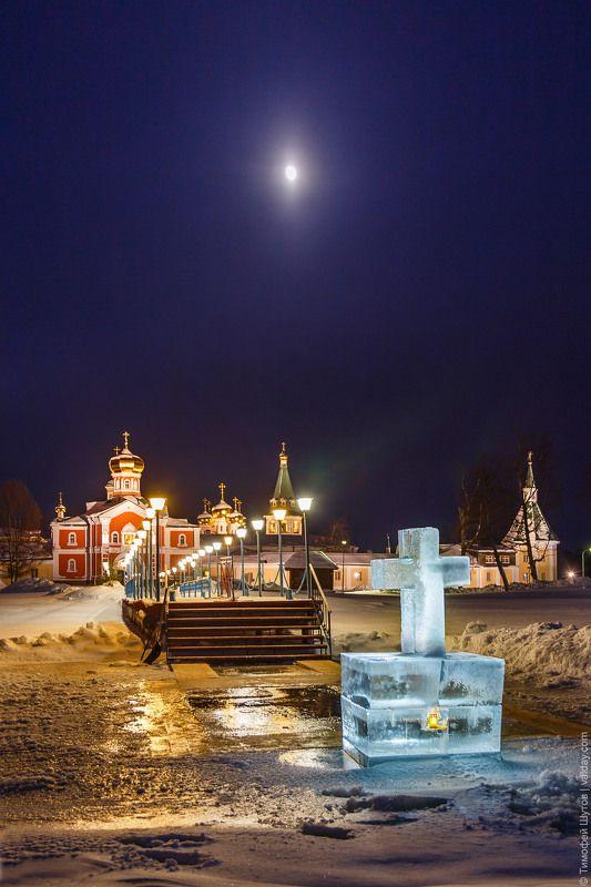 иверский монастырь, валдай Крещенская ночь на Валдаеphoto preview