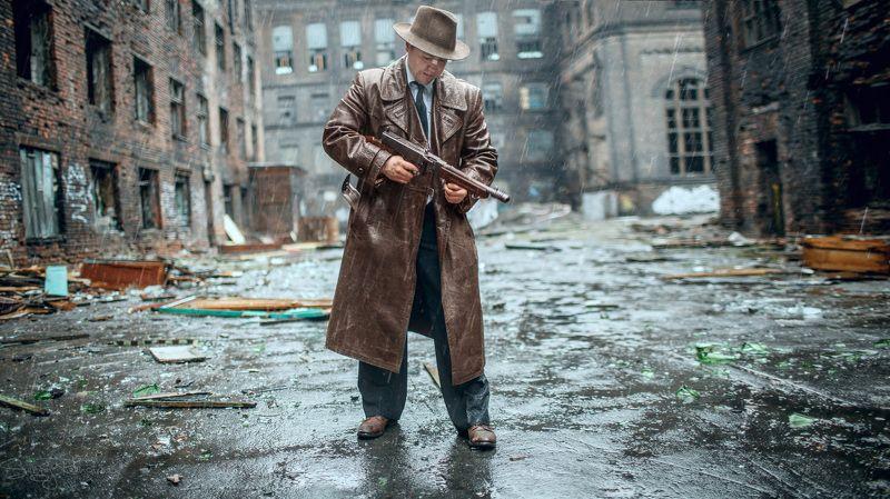портрет, город грехов, гангстер, автомат, rekhov Это Чикаго, детка!))photo preview