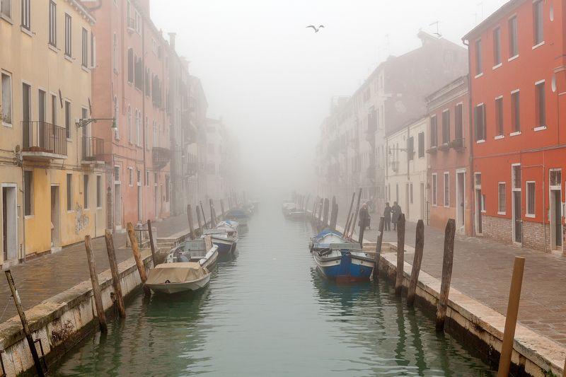 italy, venice, fog, city, cityscape, Venicephoto preview
