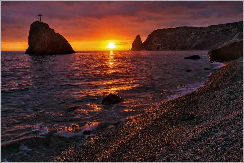 крым, севастополь, фиолент, яшмовый пляж, море, вечер *  *  *photo preview