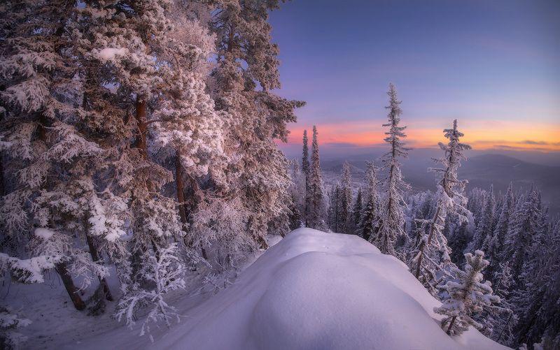 урал, горы, малиновая, белорецк, зима, уральскиегоры В утренних тонахphoto preview