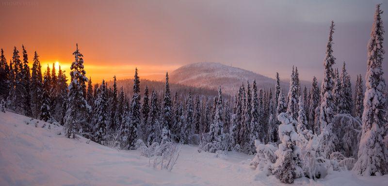 пейзаж,кольский,горы,север,закат,панорама,свет photo preview