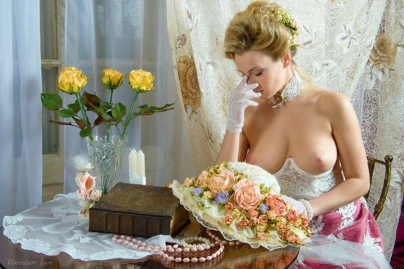 ню, девушка, грудь, обнажённая,окно, винтаж, photo preview