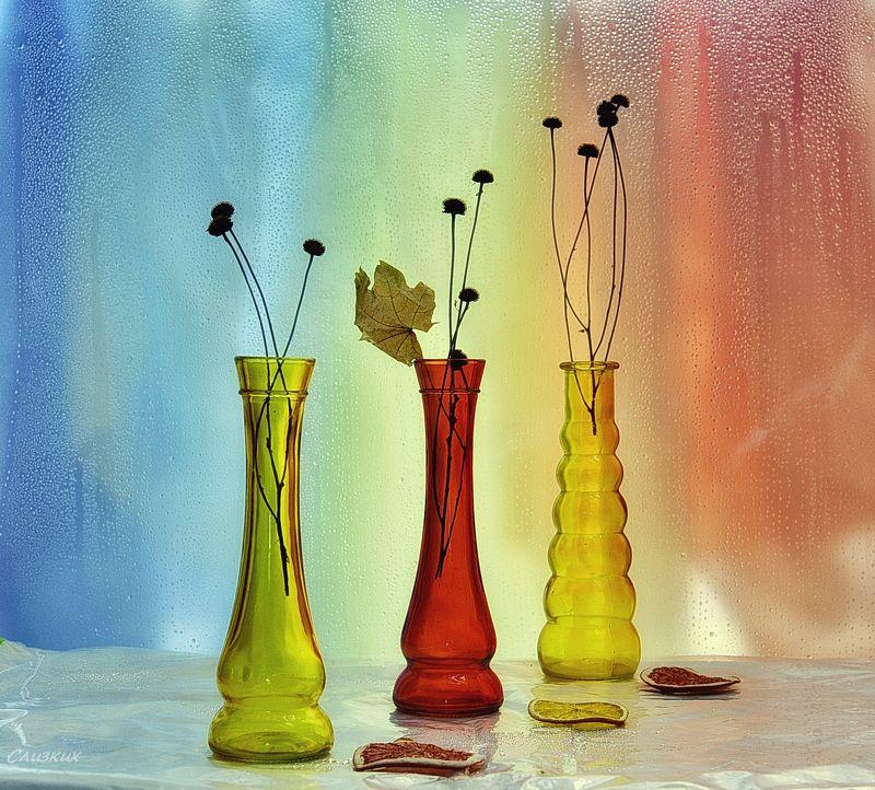 этюд,фантазия, свет,цвет,капли Палитра. Стеклоphoto preview