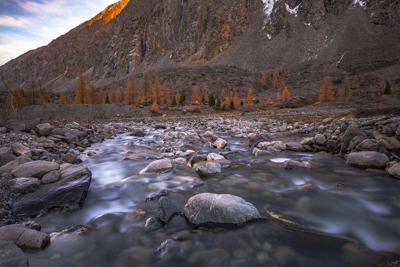 горный алтай, осень, горы, актру, речка Актру наоборот.photo preview