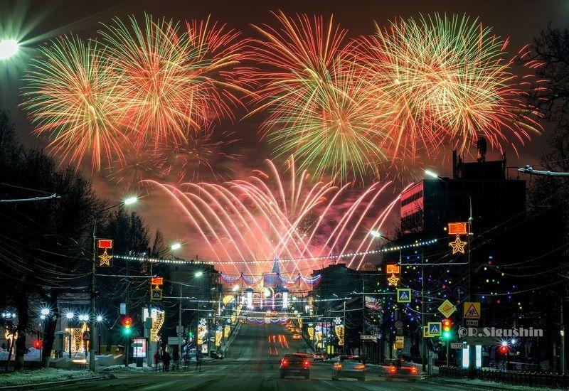 новый год фейерверк салют Новогодняя ночь 2019 в Туле!photo preview