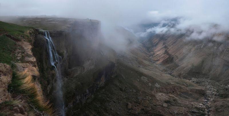 дагестан, кавказ, хунзах Дагестан. Панорама Хунзахского каньона.photo preview