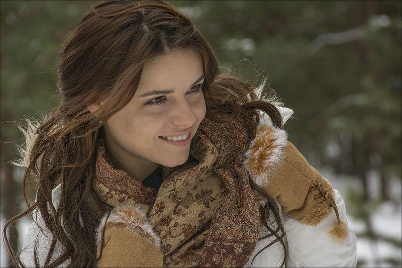 портрет, модель, январь, зимний лес, Зимний портретphoto preview