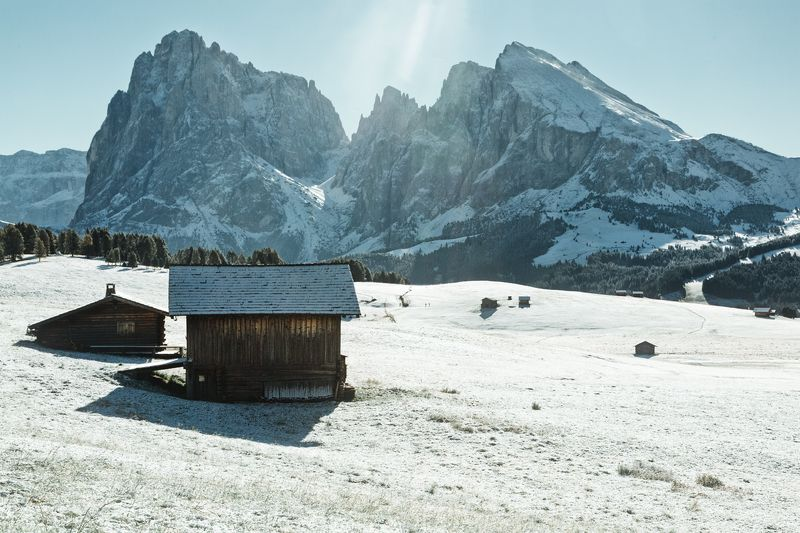 горы; лес; зима; туризм Winter Wonderlandphoto preview
