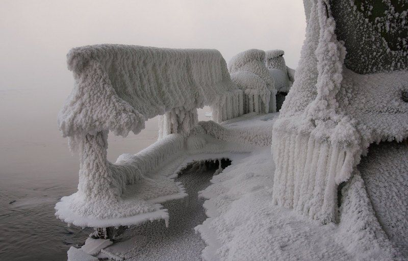 мороз.  изморозь. Ледниковый период.photo preview