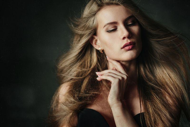студия, девушка, свет, красота, волосы Настяphoto preview