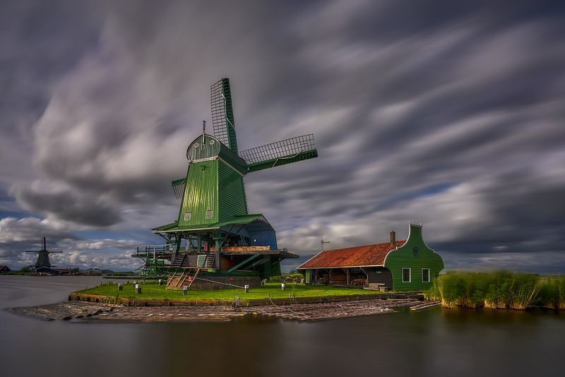 windmill, netherlands, holland, dutch, mill, water, wind, landscape, sky, river, architecture Old millphoto preview