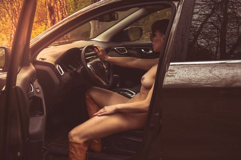 лес, машина, девушка, ... \