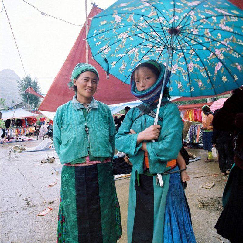 ha giang, vietnam, mf Umbrellas on mountain marketphoto preview