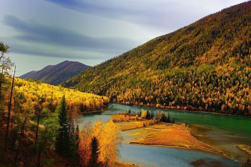 china,xinjiang,altay,river,autumn Somewherephoto preview