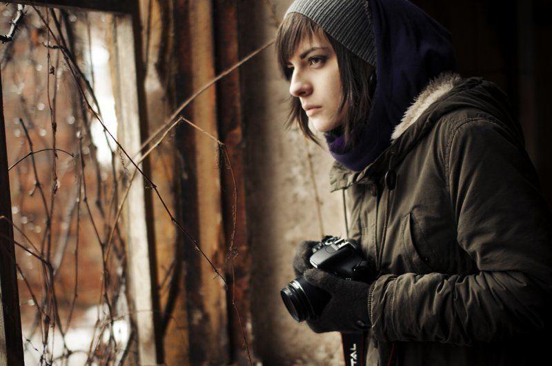 девушка, портрет, фотоаппарат, canon, nikon Seekerphoto preview