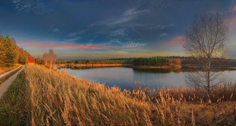 сябрынь, озеро, закат Сябрыньphoto preview