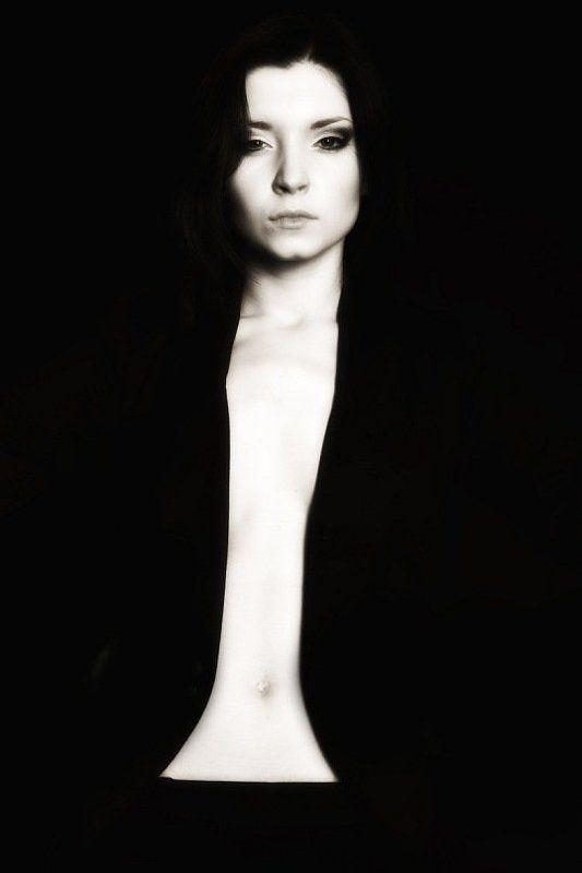 девушка, силуэт, портрет photo preview