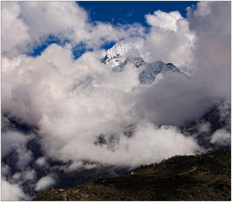 горы,ступа,облака,ледник,вершина,гималаи из жизни Богов...photo preview