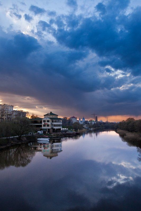 russia, tambov, sunset, city landscape Tambov Skyphoto preview