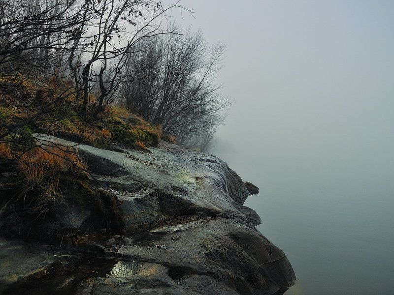 осень, озеро Паритьphoto preview