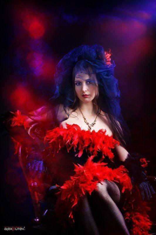 девушка,портрет,краски да гори оно все ярким пламенем....photo preview