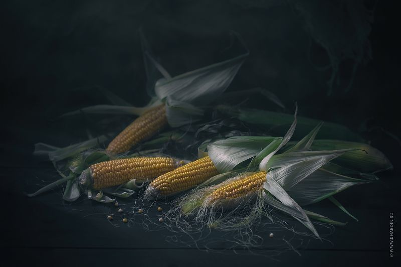rustic, corn, dark, food CORNphoto preview