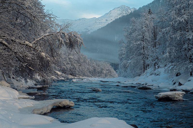 swiss, switzerland, alpine, river, snow, winter, зима, снег, река, швейцария, альпы [alpine winter]photo preview