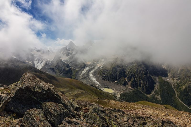 горы, облака, кавказ танец облаков на вершинах...photo preview