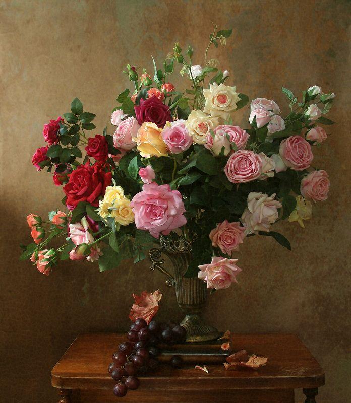 розы, натюрморт, букет цветов,  марина филатова Розыphoto preview