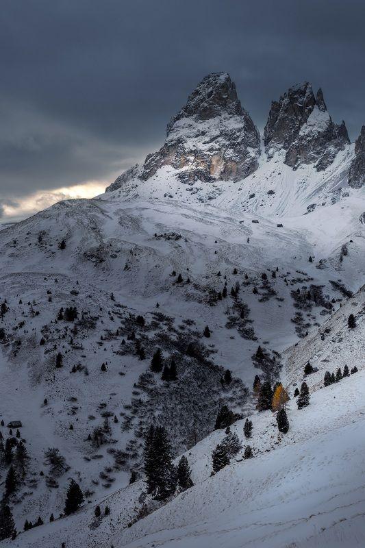 горы, доломиты, зима Доломитыphoto preview