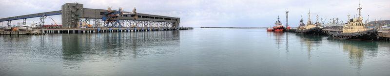панорама, море, терминал, вода, туапсе, порт terminalphoto preview