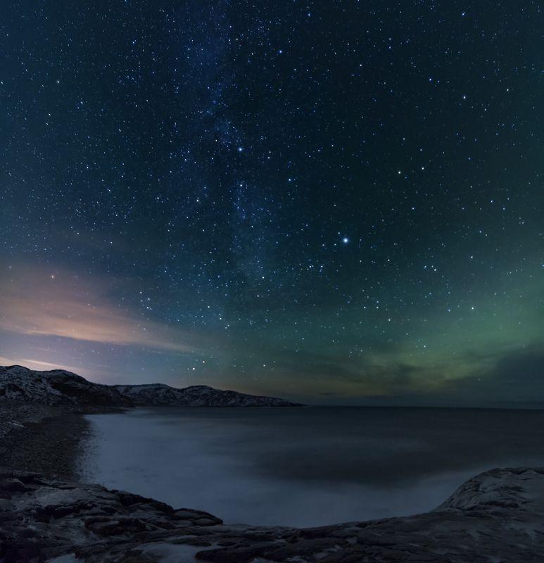 Териберка , небо в алмазахphoto preview