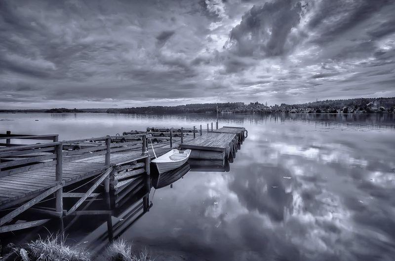 пейзаж,озеро,карелия,лодка,пирс,причал,берег,деревня Карельские озёра.photo preview